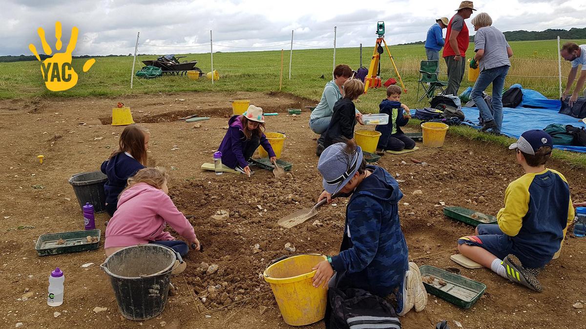 YAC members undertaking excavation and recording